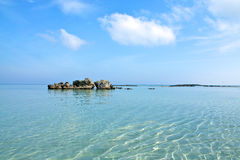 Het strand van Elafonisi, Kreta Royalty-vrije Stock Foto's