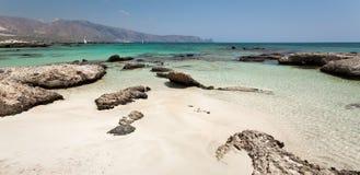 Het strand van Elafonisi (Kreta, Griekenland) Stock Afbeelding