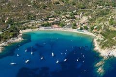 Het strand van Elba eiland-Cavoli Royalty-vrije Stock Afbeelding