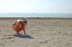 Het strand van Emty in Grado Italië royalty-vrije stock afbeeldingen