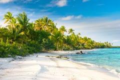 Het strand van Fakarava, Franse Polynesia Royalty-vrije Stock Foto's