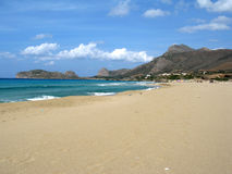 Het strand van Falasarna Stock Fotografie