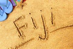 Het strand van Fiji Stock Foto's