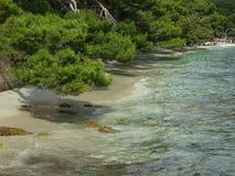 Het strand van Formentor op Mallorca Stock Foto's