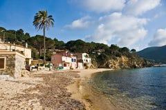 Het strand van Forno, d'Elba Isola. Royalty-vrije Stock Fotografie