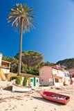 Het strand van Forno, op de Biodola Baai, het eiland van Elba. Stock Foto's