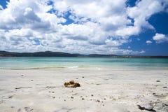Het strand van Galicië stock foto's