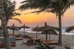 Het strand van Gambia Stock Afbeelding