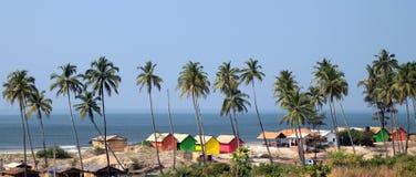 Het strand van Goa stock afbeeldingen