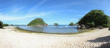 Het Strand van Goachina in Malang, Oost-Java, Indonesië Stock Afbeeldingen