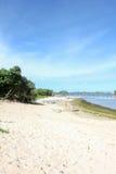 Het Strand van Goachina in Malang, Oost-Java, Indonesië - de achtergrond van de aardvakantie Stock Fotografie