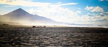 Het Strand van Gr Cofete van Fuerteventura Stock Afbeeldingen