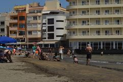Het strand van Gr Medano in de Canarische Eilanden van Tenerife Royalty-vrije Stock Afbeelding
