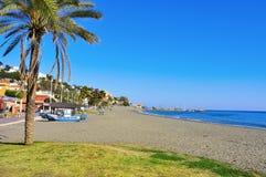 Het Strand van Gr Palo in Malaga, Spanje Stock Foto
