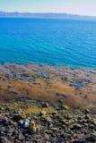 Het Strand van Gr Requeson, Mulege brengt Turkoois in de war Royalty-vrije Stock Afbeeldingen