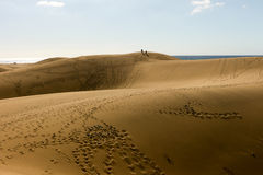 Het strand van Gran Canaria Dune Di Maspalomas Royalty-vrije Stock Afbeelding