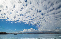Het strand van Gran Canaria, Gr Confital op de rand van Las Palmas Royalty-vrije Stock Afbeelding