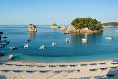 Het strand van Griekenland Stock Afbeelding