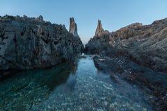 Het strand van Gueirua Stock Foto