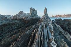 Het strand van Gueirua Stock Foto's