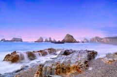 Het strand van Gueirua. Royalty-vrije Stock Afbeeldingen