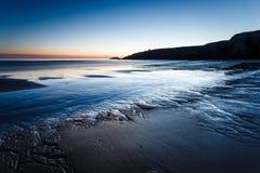 Het strand van havenblanc, Quiberon, Bretagne Royalty-vrije Stock Afbeeldingen