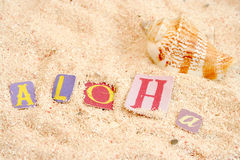 Het strand van Hawaï royalty-vrije stock fotografie