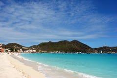 Het Strand van het Eiland van St.Maarten stock fotografie