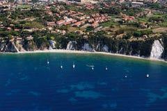 Het strand van het eilandSottobomba van Elba Stock Afbeeldingen
