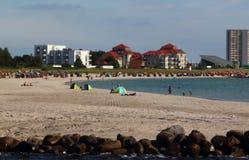 Het strand van het Fehmarnzuiden Stock Afbeeldingen