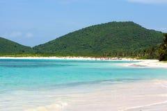 Het Strand van het Flamenco van het Eiland van Culebra Stock Fotografie