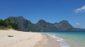 Het strand van het helikoptereiland Stock Foto's