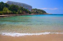 Het Strand van het Hotel van de luxe royalty-vrije stock foto's