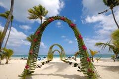 Het strand van het huwelijk Stock Foto