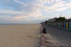 Het strand van het Lowesoftzuiden prom stock foto's