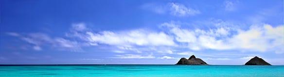 Het strand van het panorama Stock Afbeeldingen