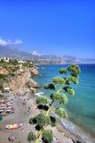 Het strand van het panorama - Spanje Stock Foto's