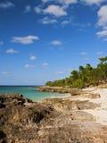 Het strand van het Paradijs van het eiland Stock Afbeeldingen