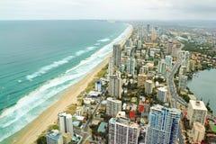 Het Strand van het Paradijs van Surfers stock foto