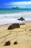 Het strand van het pictogram Stock Foto
