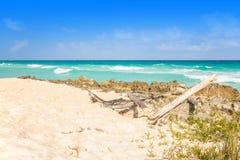 Het strand van het Playa del Carmen, Mexico royalty-vrije stock foto's