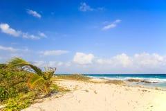 Het strand van het Playa del Carmen, Mexico royalty-vrije stock afbeeldingen