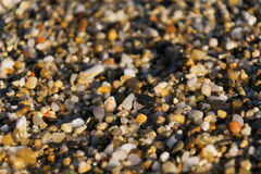 Het strand van het steenzand Stock Foto
