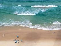 Het strand van het surfersparadijs Stock Foto