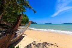 Het strand van het vakantieparadijs Royalty-vrije Stock Foto's