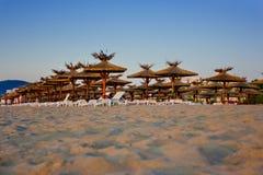 Het strand van het zand royalty-vrije stock foto's