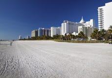 Het Strand van het zuiden, de Hotels van Miami Stock Afbeelding