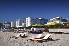 Het Strand van het zuiden, Miami stock fotografie