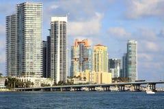 Het Strand van het zuiden in Miami stock foto's