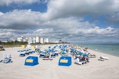 Het Strand van het Zuiden van Miami, Florida Stock Foto